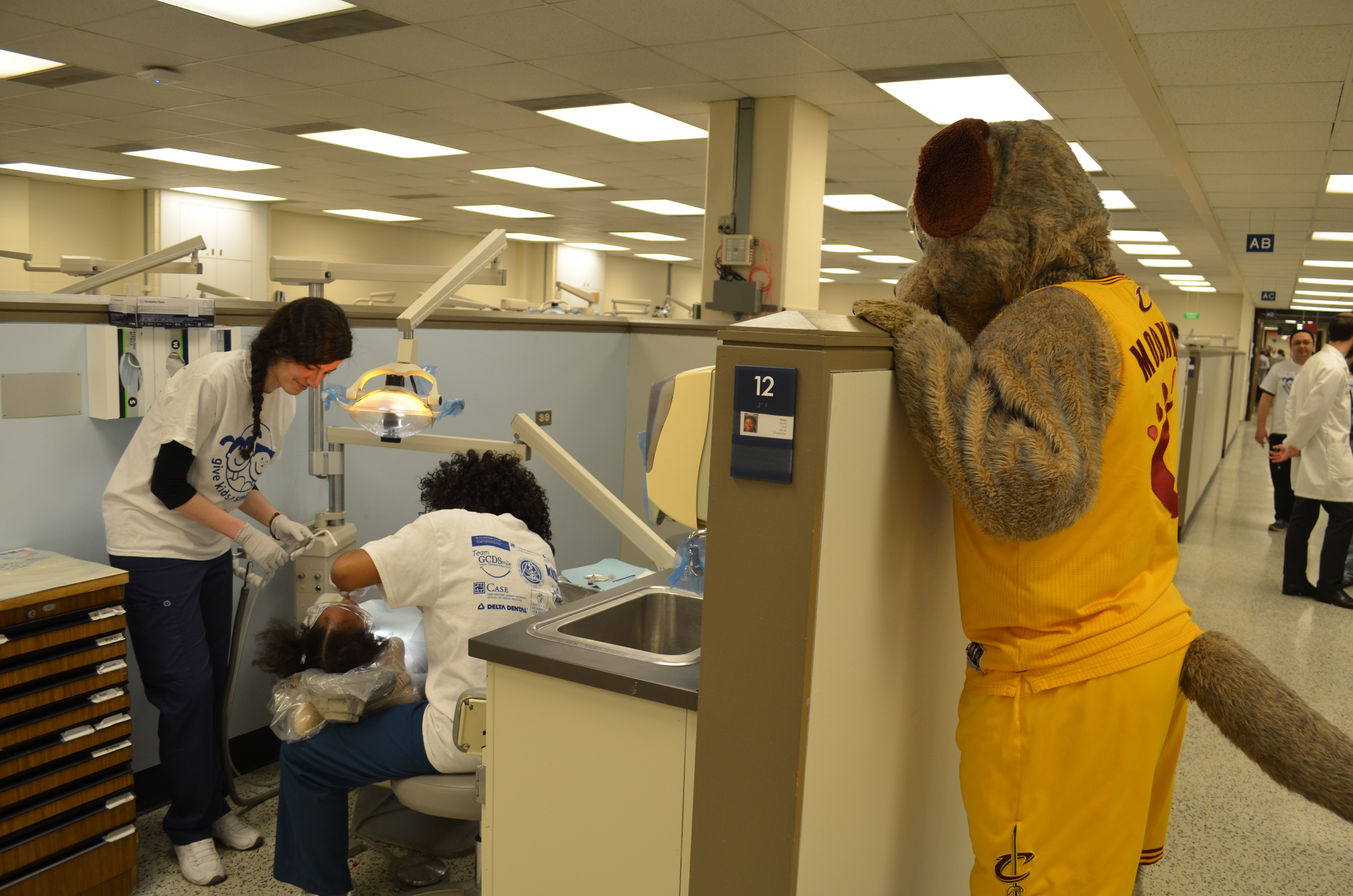 Volunteer dentists from the Greater Cleveland Dental Society
