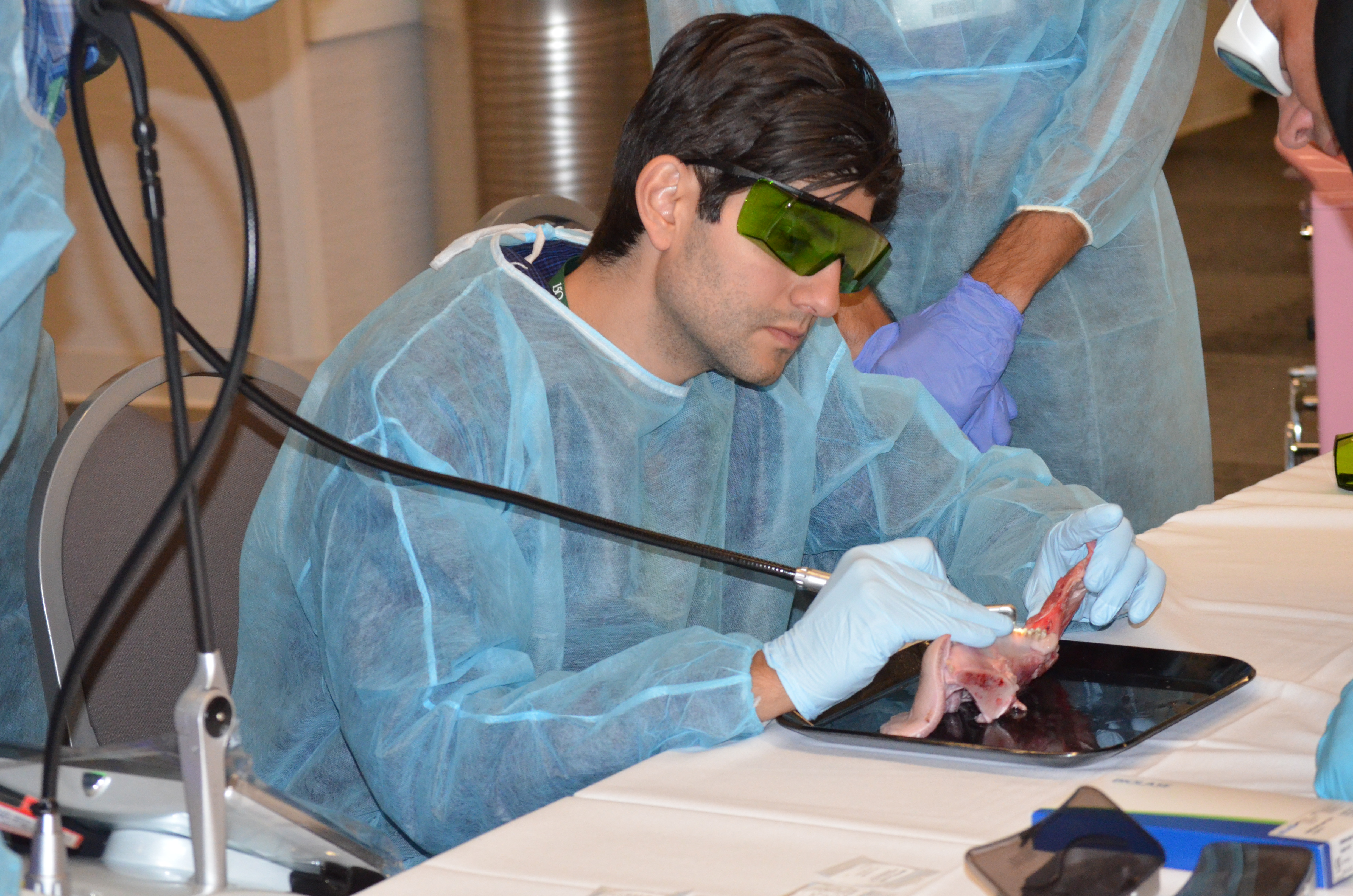 Dentist attends CE course at Annual Session
